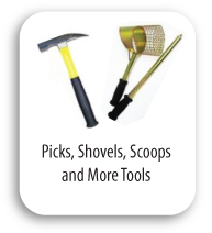 Picks, Shovels, Scoops, Tools